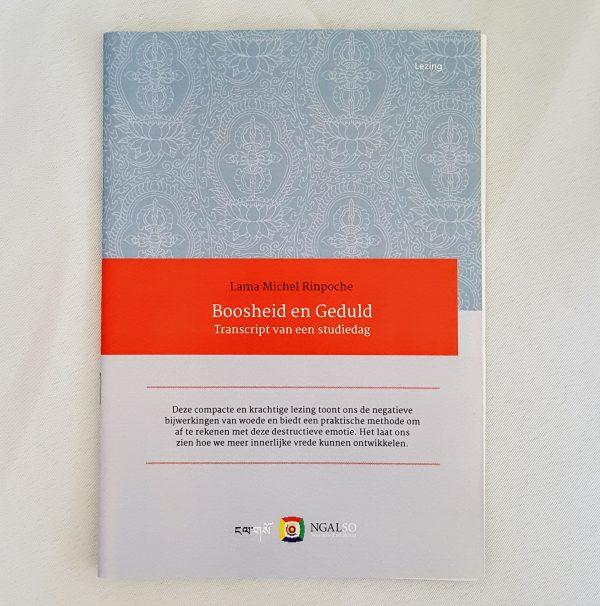Boek Lezing Lama Michel Boosheid en Geduld
