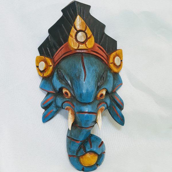Masker Ganesh hout handgemaakt in Nepal