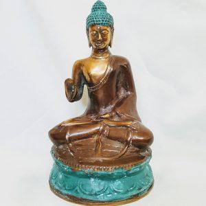 Boeddha beeld boeddhabeeld van koper uit Indonesie