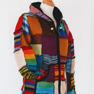 wollen vest nepal patch kleurrijk