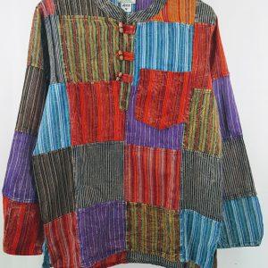overhemd patch nepal kleurrijk
