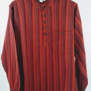 overhemd nepal rood katoen