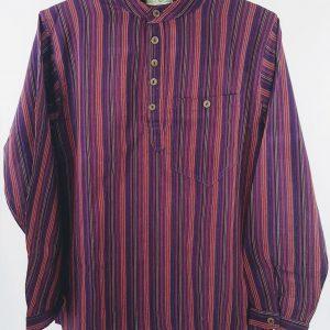 overhemd nepal bordeaux katoen